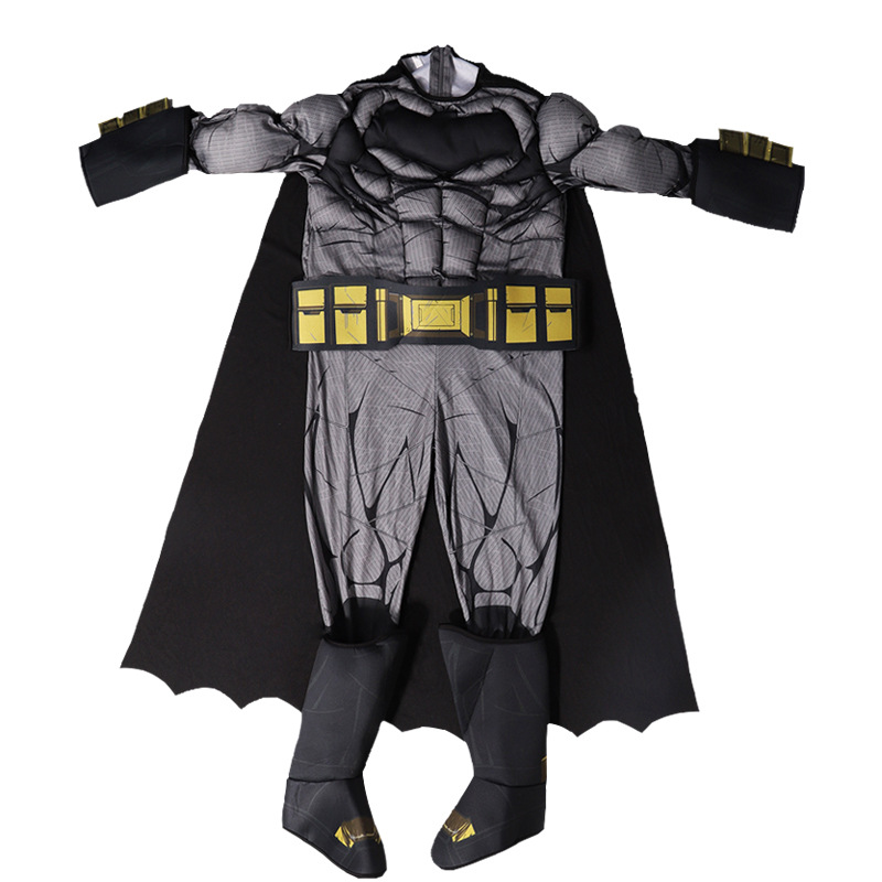 Children Batman Halloween Masquerade Party COS Hero Performance Muscles One Piece Cloak   halloween costumes