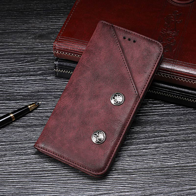 OPPO A1K Case Cover Luxury Leather Flip Case For OPPO A1K CPH1923 Protective Phone Case Retro Back Cover