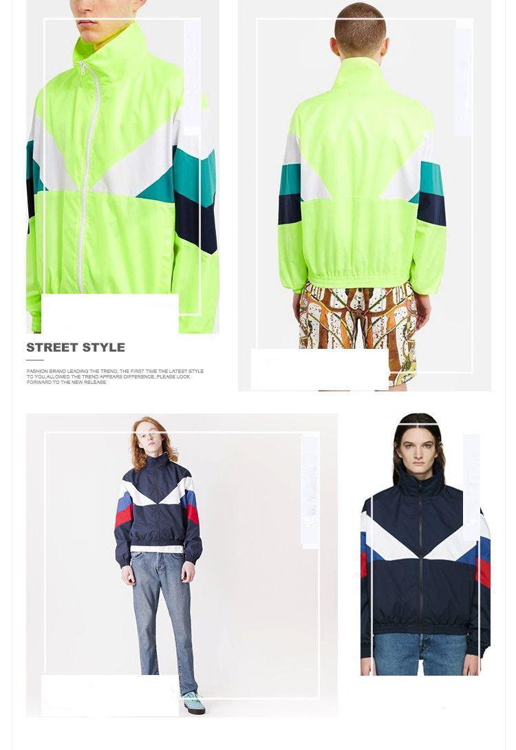 Men Jacket Gosha Rubchinskiy Classic Navy Tricolor Sport Long sleeve Windbreaker Jackets Hiphop Skateboards Couples Outwear S-XL (18)
