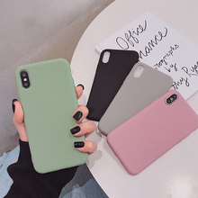 VZD simple solid color soft for iphone x mobile phone case 8plus x/xs max/xr shell female iphone6s/7p