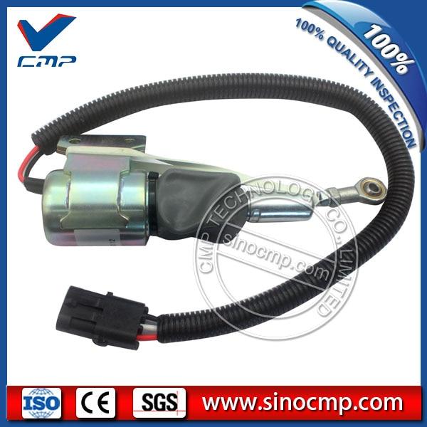CMP 24v excavator fuel stop shutdown shutoff flameout solenoid 3932530 cmp stop solenoid valve 3935650 for cummins excavator