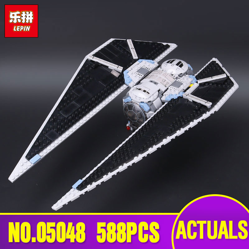 New Lepin 05048 588Pcs Star Seiers War The TIE Striker Building Blocks Bricks Toys Compatible with 75154 Educational Toys Gifts lepin 05048 star series wars 543pcs the tie striker fighter model building blocks bricks toys compatible with 75154 children toy