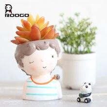 Roogo Креативный цветочный горшок милые бонсай горшки кашпо