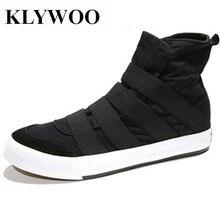 KLYWOO High Top Men Shoes Sneakers Slip On Brand Casual Shoes Men Canvas Shoes Plimsolls Espadrilles Men Boots Zapatillas Hombre