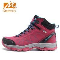 MERRTO Women Waterproof Walking Shoes Sneakers Winter Breathable Walking Shoes For Women With Inner Fleece High