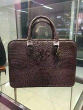100% genuine crocodile leather skin briefcase men laptop bag, men business bag black brown Big Discount Sales Promotion