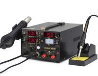 SMD/SMT Rework Station Hot Air Gun Lötkolben DC Netzteil 3 in 1 Schweißen Maschine Eisen Löten YH-853D