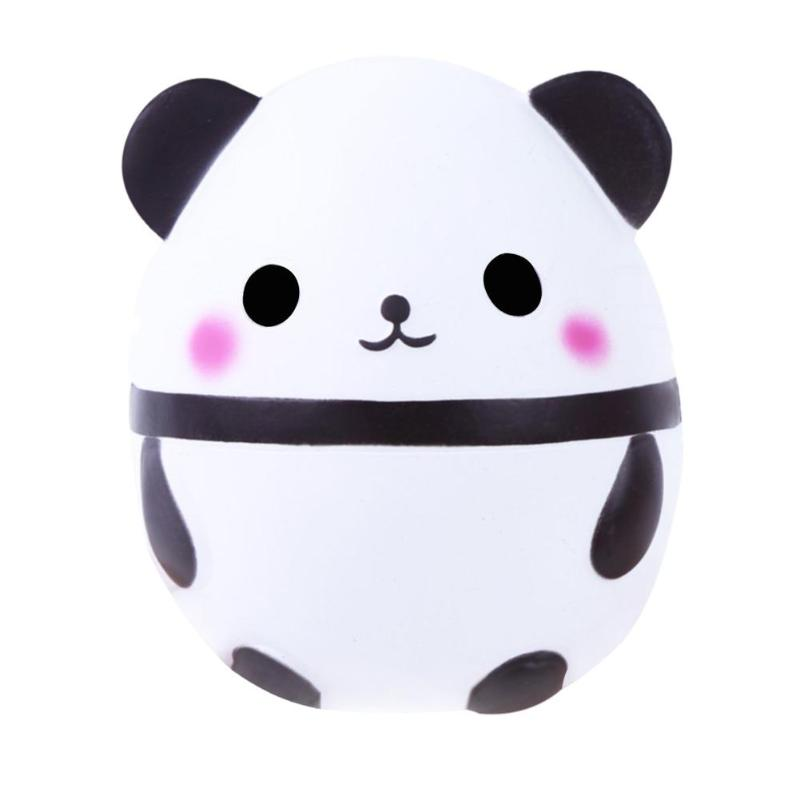 Soft Squishy Slow Rising Cute Panda Cream Scented Squeeze Kid Fun Toy Ute Panda Bear Squishy Slow Rising Soft Squeeze Straps Toy