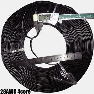 Image 3 - 300 m 커넥터 차폐 와이어 ul2547 멀티 코어 4 코어 28awg 그레이/블랙 오디오 신호 전자 연결 케이블
