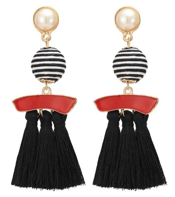 HOCOLE 2017 Brincos Women Brand Boho Drop Dangle Fringe Earring Vintage ethnic Statement Tassel earrings fashion jewelry Charms 5