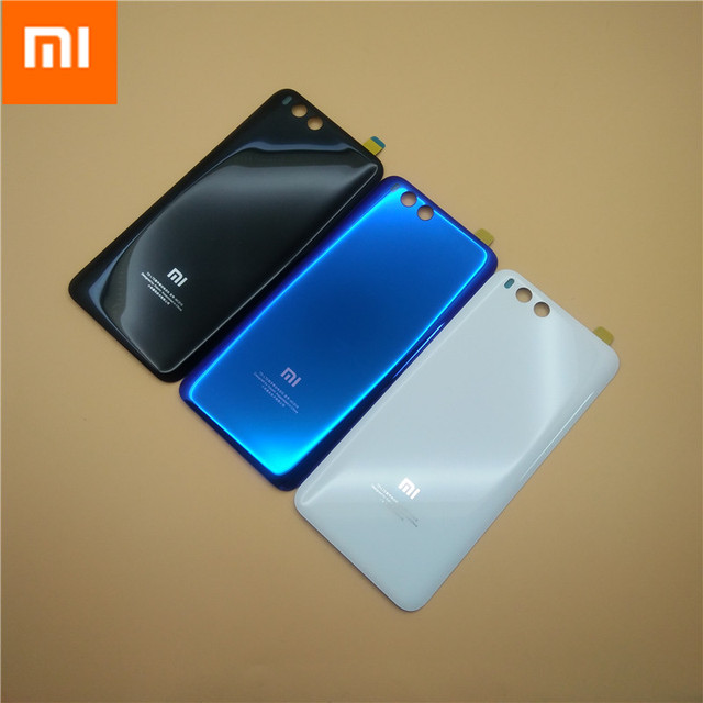 MI6 100% מקורי 3D זכוכית אחורי שיכון כיסוי עבור XIAOMI MI 6, דלת אחורית החלפת קשיח סוללה מקרה, 3 צבעים המניה Xiaom Mi6