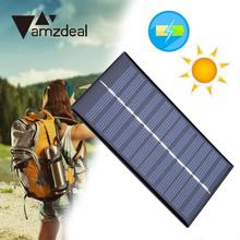 amzdeal 0.8W 6V Solar Cell Power Panel Plate Battery Charger Module For Flashlight Outdoor Travelling Powerbank DIY Module Cell