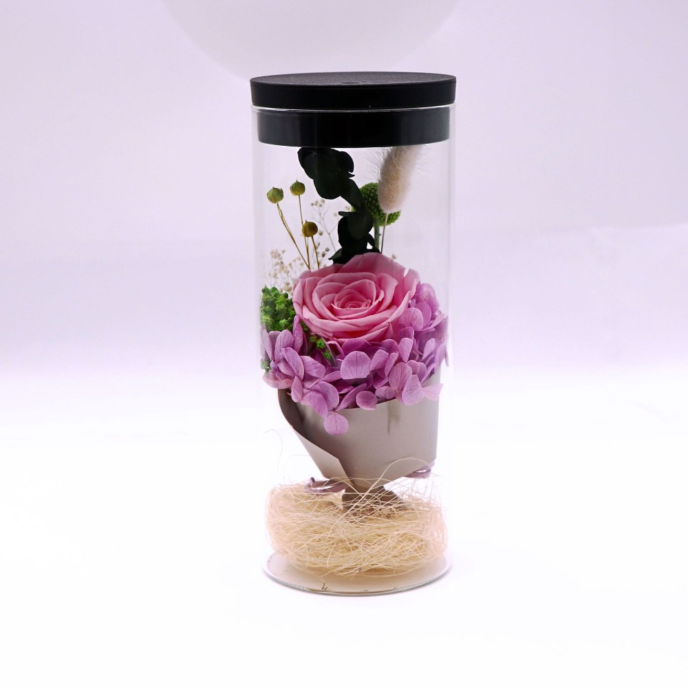 Flor artificial de cristal de rosa para decoración del hogar de la boda de flores frescas de la cubierta del Día de San Valentín - 4
