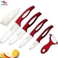 2018 Лучшие Керамические ножи, подарок, циркониевая красная ручка, керамический кухонный нож для фруктов, набор для 3, 4, 5, 6 дюймов и Овощечистк...