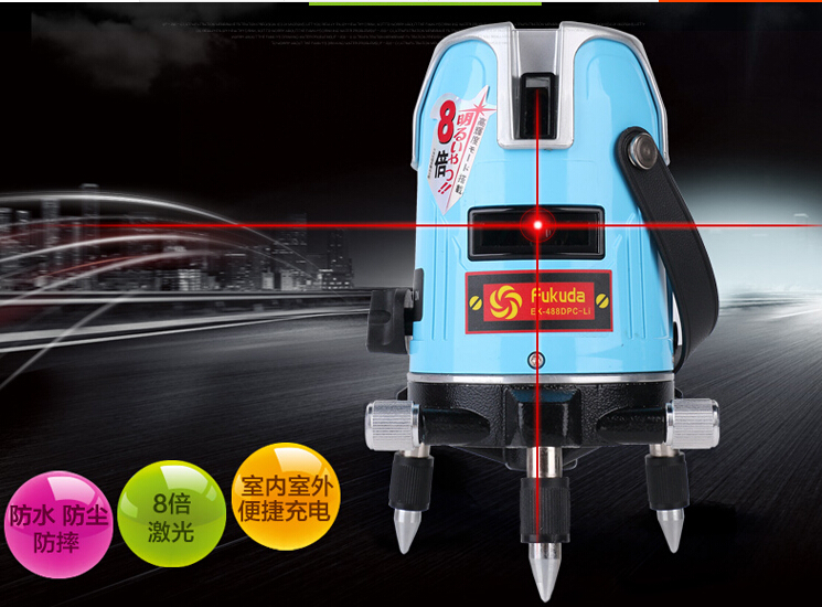 Free shipping 5 lines 3 points lazer level cross line laser measure prices fukuda free shipping wholesales laser 2 line lase level marker mouse se sl2
