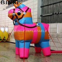 Free air shipping kids love colorful giant inflatable pinata inflatable horse rainbow donkey animal cartoon for party decoration