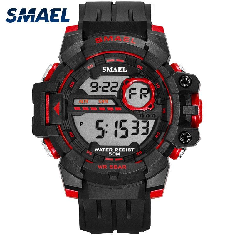 SMAEL Digital Watch Back-Light Sport Clock Waterproof Men Relogio Masculino LED 1712