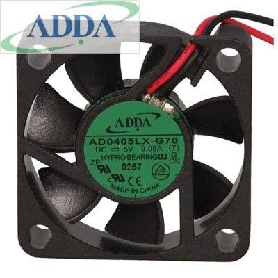 Adda ad0405lx-g70 40 мм 4 см DC 5 В 0.08a 40x40x10 мм тихий мини осевой молчать охлаждающие вентиляторы