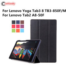 For Lenovo Yoga Tab3 Tab 3 8 TB3-850 TB3-850F TB3-850M Tablet Case Flip Folding Stand Cover Case For Lenovo Tab2 A8 50 A8-50F(China)