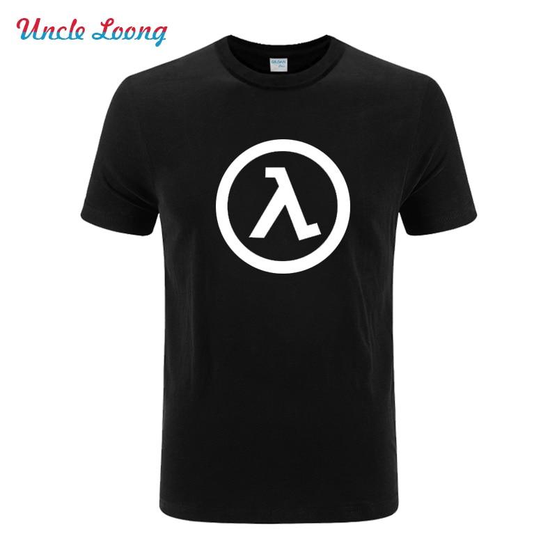 Half Life 3 logo printing T Shirt Men Cos