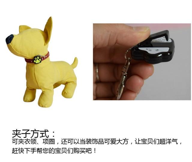 Footprints LED Flash light dog Collar Charm Pet Cat dog collar pendant ID tag Bone Necklace Collar Puppy collar accessory