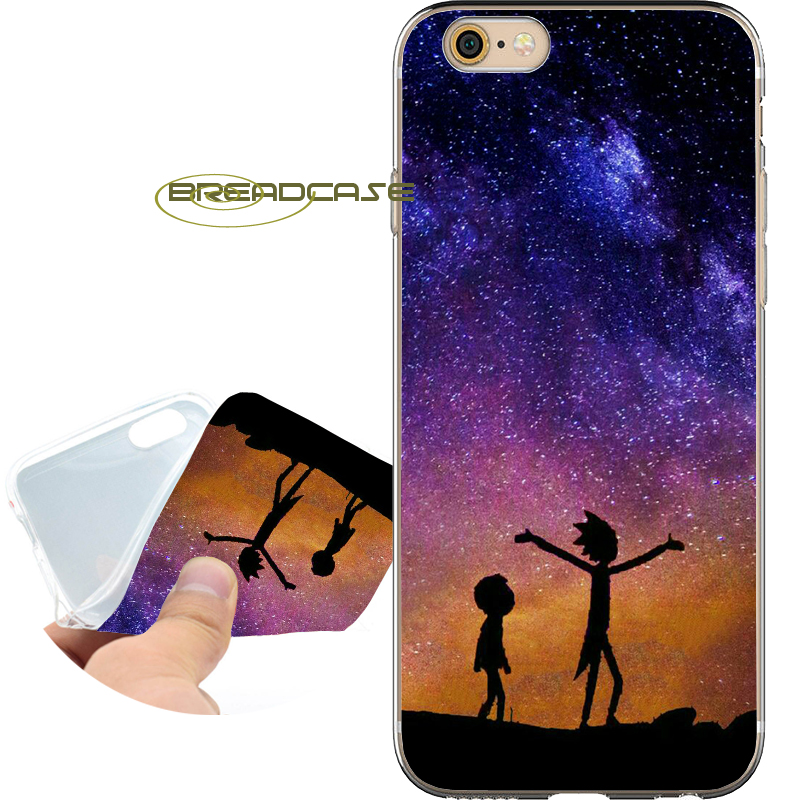 Funda NEBULA RICK MORTY Coque Soft Clear TPU Silicone Phone Case for iPhone X 8 7 6S 6 Plus 5S SE 5 5C 4S 4 iPod Touch 6 5 Cover