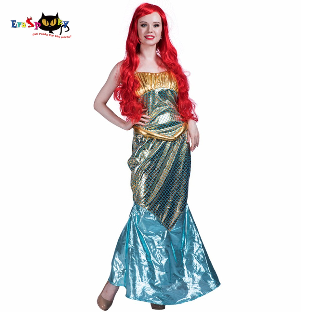 Women Sexy Mermaid Tail Costume Dress Christmas Cosplay Party Dance Dress Outfit for Girl Adult Lady Halloween Costumes