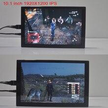 10.1 pulgadas 1920*1200 2 k portátil HDMI IPS pantalla del monitor Raspberry pi XBOX PS máquina de juego/monitor/coche/camara/pantalla Aérea