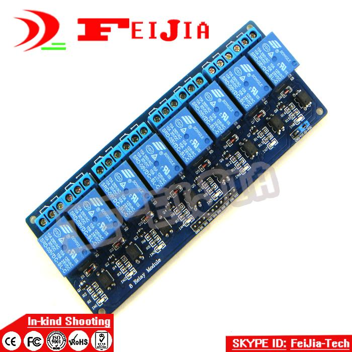 8 channel 8-channel relay control panel PLC relay 5V module for ard uino hot sale in stock With optocoupler resin geometric gold plated alloy statement necklace