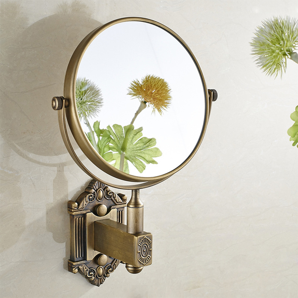 European antique makeup mirror beauty mirror bathroom wall hanging creative bathroom folding mirror bathroom pendant LO74231 цена 2017