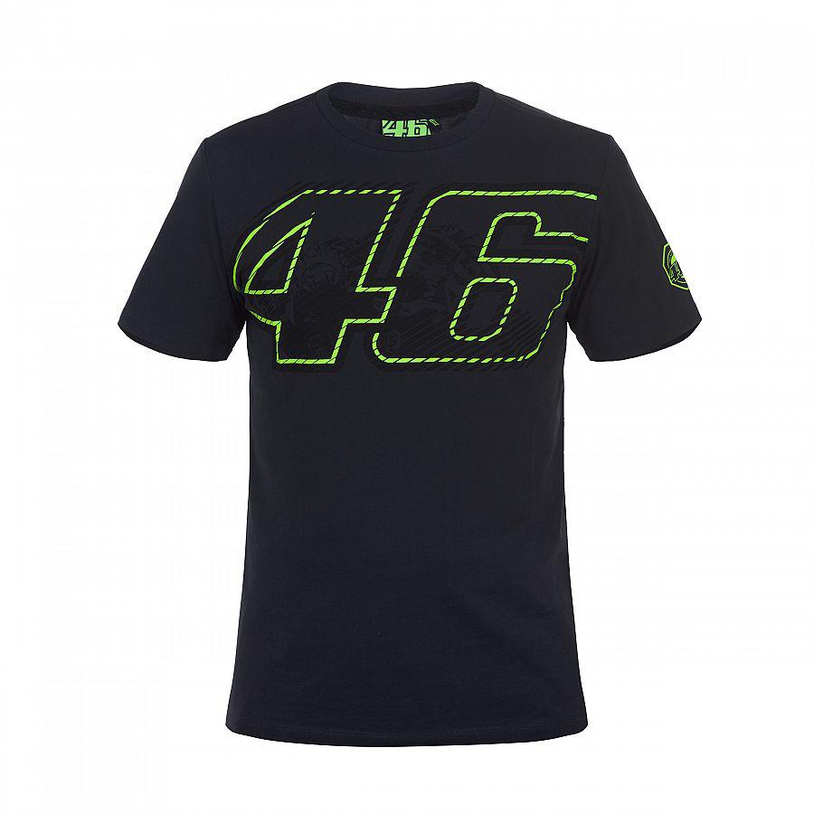 Neue Ankunft! 2017 valentino rossi vr46 moto gp 46 logo motorrad schwarz t-shirt sport regale männer t-shirt
