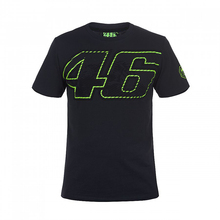 New Arrival ! 2017 Valentino Rossi VR46 Moto GP 46 Logo Motorcycle  Black T-shirt Sports Racking Men