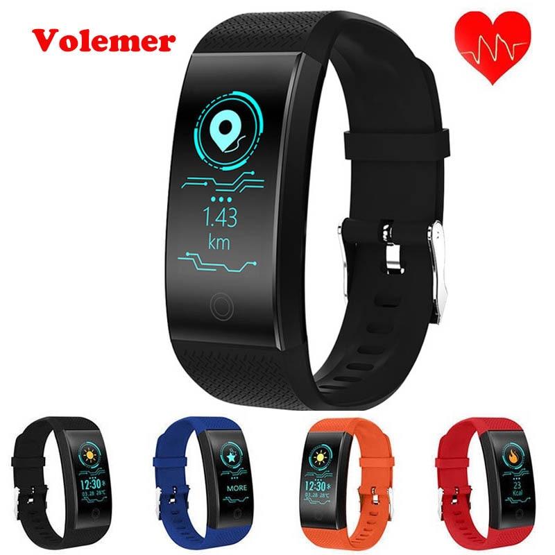 Volemer QW18 Bluetooth Smart Bracelet Heart Rate Monitor IP68 Waterproof Color Screen Fitness Tracker Band BT4.0 Sport Wristband g6 tactical smartwatch