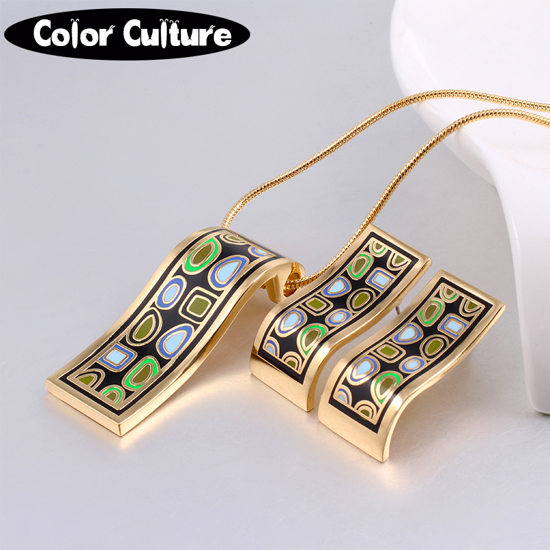 New Arrival gold Jewelry Sets Women Vintage Birthday Gift for Women Elegant Classic Enam ...