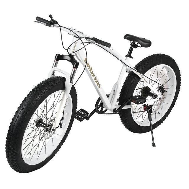 26X21 Inch 7 Speed Snow Bike Double Disc Braking System Bicycle Steel Frame Mountain Bike Outdoor Sports Exercise Bike fat bike