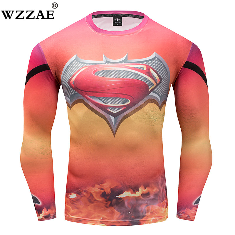 2018 Black Panther compression T-shirt men long sleeve 3d captain America civil war iron man 3 G YM tops tee summer tights t shi