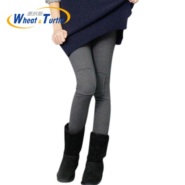 Remendo Leggings Plus Size Espessamento Calças Quentes Calças de maternidade Barriga Maternidade Quente Roupas de Inverno do Outono do Algodão Leggings Térmicas