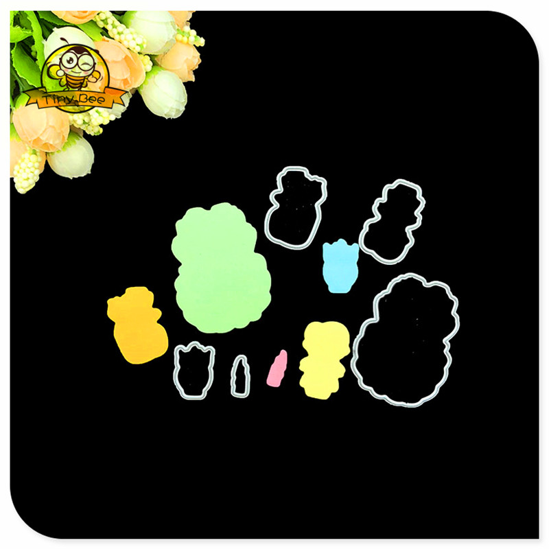 5Pcs Figure Metal Cutting Die Cutter Stamps And Dies Crafts and Scrapbooking Die Cuts For Card Making in Cutting Dies from Home Garden