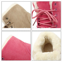 Women Boots Warm Winter Boots Female Fashion Women Shoes Faux Suede Ankle Boots For Women Botas Mujer Plush Insole Snow Boots 4