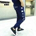 Pioneer Дети 4-16Y Мода весна мальчиков, брюки мальчиков, одежда хлопок школа мальчиков спортивная одежда брюки брюки детская одежда