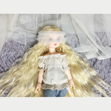 Allaosify – perruque de poupée noire, cheveux haute température, 7-8 8-9 pouces, 1/3 1/4 1/6 1/8, livraison gratuite