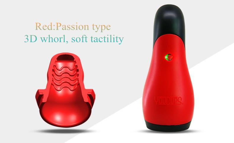 USB Charging eroticism Products 12 frequency Deep throat Blow Job Vibrating Masturbator Oral Sex Toys Men 6