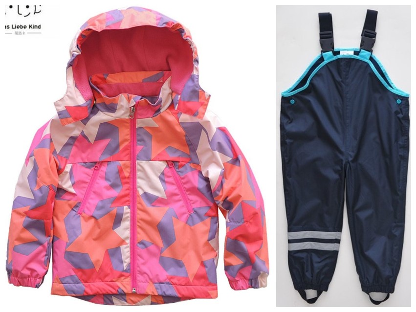 Boy girl jacket baby jackets spring and autumn jacket plus pants children windbreaker autumn children's suit