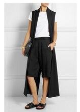 2017 Spring Cool Back Slit Design Ultra Long Women Vest, Extra Long Sleeveless Jacket