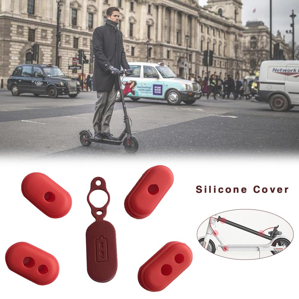 4pcs Case Silicone Cap M365 Electric Scooter Charge Port Cover Dust Plug For Xiaomi M365 Scooter Parts