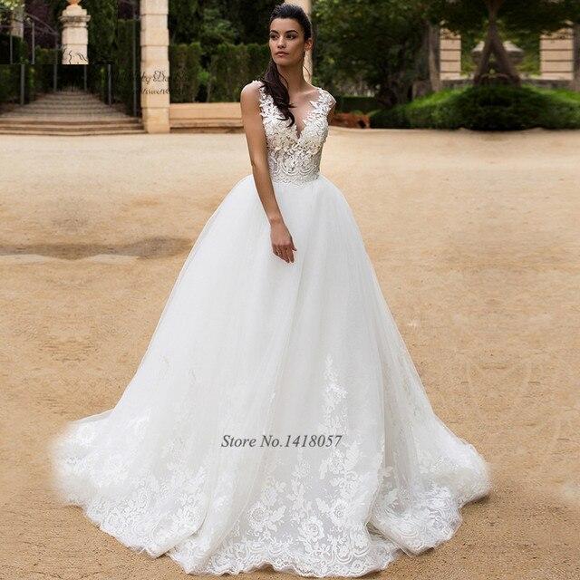 Luxury African Wedding Gowns Lebanon Lace Wedding Dress 2017 Robe De