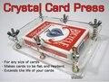 Crystal Card Press,Crystal Card Flatten Restore Deformation - Magic trick,card magic,accessory,gimmick