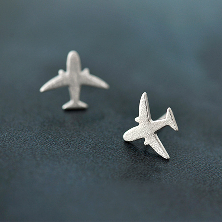 925 Small Fly Design Stud Earrings . Stirling Silver