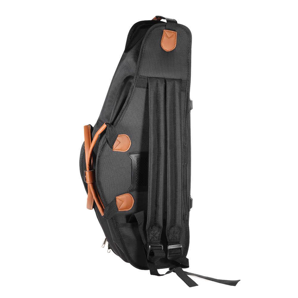 1680D водоотталкивающая ткань Оксфорд мешок хлопковой подкладкой Расширенный Ткани саксофон мягкий чехол регулируемый плечевой ремень для альт-саксофон