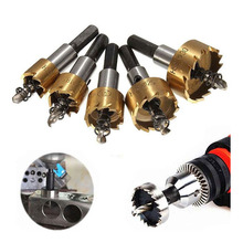 DOXA 5 Pcs Carbide Tip HSS Drill Bit Saw Set Metal Wood Drilling Hole Cut Tool for Installing Locks 16/18.5/20/25/30mm